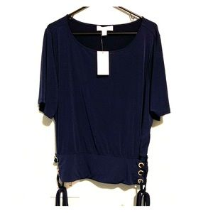 Gorgeous MK Navy Top